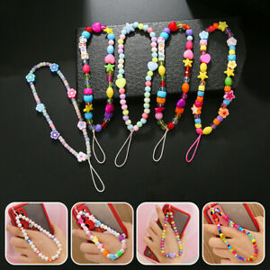 Colorful Beads  Women Bracelet Mobile Phone Cord Hanging Chain Hold Straps co