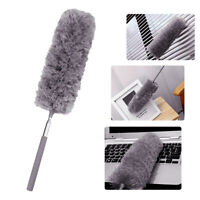 KQ_ Telescopic Extendable Microfiber Duster Dusting Brush Desk Car Cleaning Tool