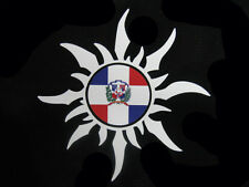 Dominican Republic Sun with Flag Car Decal Sticker  Republica Dominicana