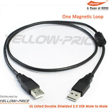 3FT High speed USB 2.0 A Male to A Male Data Transfer Charger Cable For PC / MAC