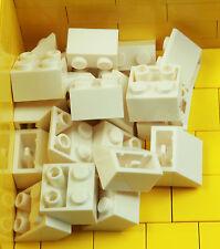 BRAND NEW LEGO BRICKS - 20 x WHITE 2x2 INVERTED SLOPE BRICK 45 3660 -