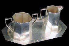 ANTIQUE ART DECO REDLICH STERLING SILVER ART DECO COFFEE CREAMER SUGAR 8500 SET