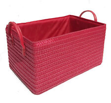 STRONG TOYS KITCHEN CUPBOARD STORAGE BASKET CHRISTMAS HAMPER BASKET + HANDLE