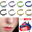 1pc Surgical Steel Nose Stud Ring Hoop 16g 18g 20g Gold Black PVD Body Piercing