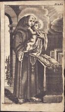 Sankt Antonius Gnadenbild Heiligenbild Andachtsbild Kupferstich (Flo-5023