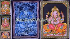 50 PC WHOLESALE LOT INDIAN LORD GANESHA Tapestry Decor God Wall Hanging Throw