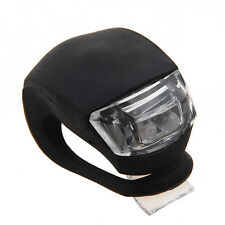 Flexible Waterproof Double Red LED Light with Black Silicone for Bicycle LW