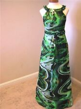 NWT Mikael Aghal pageant formal evening cocktail dress w/jewels Green 4