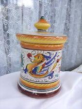 Alter Keramik Deckel-Dose . Deruta , Italien .