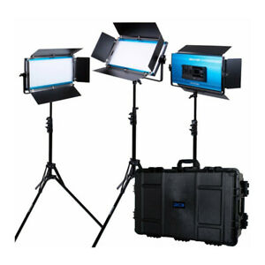 Dracast X Series 1000 Bi Color 3 LED Panel Kit with Injection Molded Travel Case