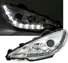 2 FEUX PHARE AVANT CHROME DEVIL EYES LED PEUGEOT 206 ET CC PHASE 2