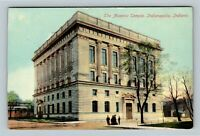 Indianapolis IN, The Masonic Temple, Indiana Vintage c1910 Postcard