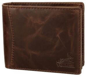 Fa.Volmer® Herren Pull up Leder Geldbörse - RFID-Schutz - Weltweiter Versand