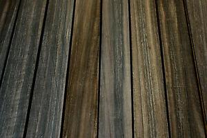 African ebony guitar fingerboard fretboard blank GRADE B 530 x 68-72 x 8mm