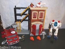 Fisher Price Imaginext rescue Police Fire Truck sounds set