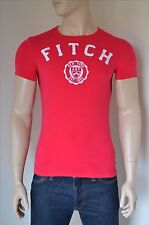 NUOVO ABERCROMBIE & FITCH Jay gamma Grafica Logo Tradizionale Tee T-shirt Rosa S