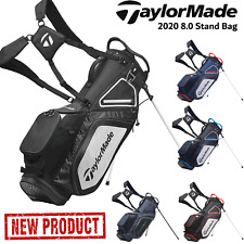 TAYLORMADE GOLF BAG 8.0 STAND BAG DUAL STRAP GOLF STAND CARRY BAG NEW 2020 MODEL