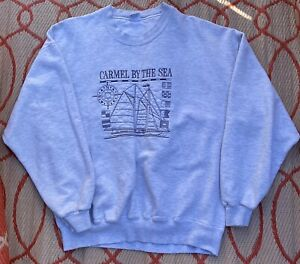 Crazy Shirts Hawaii Carmel By The Sea VTG 90s Sweatshirt Red Embroidered Sz L