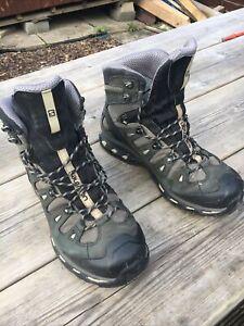 Salomon Quest 4D GTX Gore-tex Mens Hiking Boots Size UK 11 Grey & Black