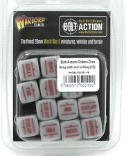 Bolt Action WGB-DICE-18 Orders Dice Grey with Red Writing (12) Game Accessories