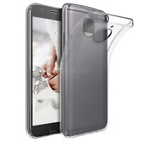 Clear Slim Gel Case and Glass Screen Protector for Motorola Moto G5S Plus