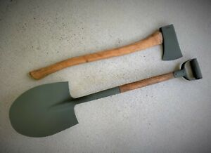 US ARMY MILITARY VEHICLE SHOVEL & AX / AXE - SET - WILLYS JEEP MB FORD GPW M151