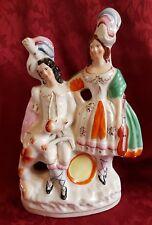 Unusual Antique Staffordshire Figure Bonnie Prince Charlie & Flora MacDonald