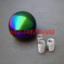 JDM Neo Chrome Round Shift Knob Universal Fit Acura Honda Mazda Nissan Toyota