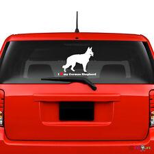 I Love My German Shepherd Windshield Sticker Vinyl Auto Window