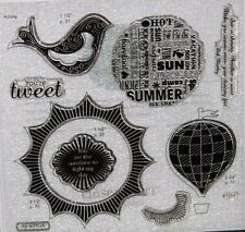 Close To My Heart CTMH S1304 MY SUNSHINE Acrylic Stamp Set of 8  BRAND NEW