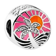 Authentic Pandora silver 925 # 792116ENMX Tropical Sunset slide charm bead NWOT