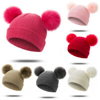 Toddler Kids Girl Boy Baby Infant Winter Warm Crochet Knit Hats Beanie Cap Soft