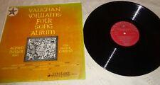 ALFRED DELLER & THE DELLER CONSORT - VAUGHAN WILLIAMS FOLK SONG ALBUM LP 1959