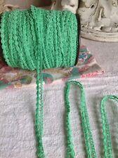 Adorno De Encaje Verde Vintage 500 cm Ballet Muñecas Mobiliario Vintage Boda nos