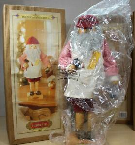 "Grandeur Noel Wooden Santa Nutcracker Toy Maker 17"" Limited Edition"