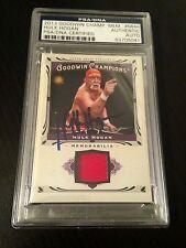 2013 UD Goodwin Champions Hulk Hogan Worn Shirt Signed Auto PSA/DNA Slabbed #2