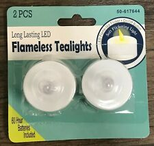 2pcs Led Tea Lights with Battery Operated Switch Flickering Flameless Candles