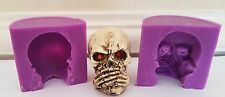 3D SPEAK NO EVIL 6cm SKULL SILICONE MOULD FOR CHOCOLATE, CLAY, CANDLES ETC
