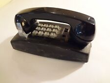 VINTAGE WESTERN ELECTRIC BELL 2554B2M Black Push Button WALL TELEPHONE