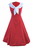 Vintage 1950's 1960s Swing Rockabilly Nautical Sailor Evening Party Tea Dress