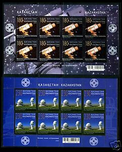 2009. Kazakhstan. Space and astronomy. Sheets/Panes. MNH. Sc.596-597