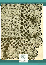 Vintage downton abbey era crochet pattern for a lacy baby christening shawl