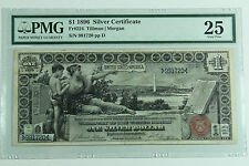 1896 $1 Silver Certificate PMG 25 Very Fine Educational Note Premium Quality