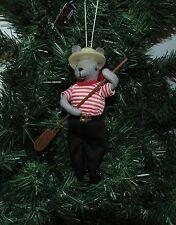 Italian Gondolier Mouse Christmas Ornament, Venice, Pizza
