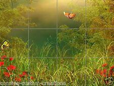 Green Pond Tile Mural Decorative Ceramic Tile Backsplash Accent Art Custom Sizes