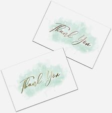 Thank You Cards Set of 100, Gold & Rose Gold for Baby Showers and Weddings