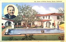 Vintage Postcard of 860-Home of Mickey Rooney, Encino, Ca, Ob-H897