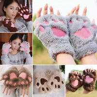 Women Winter Wrist Arm Warmer Knitted Keyboard Long Fingerless Gloves Mitten HOT