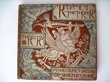 "1886 Children's Book - Walter Crane-Stunning Graphics""Romance of the Three R's""*"