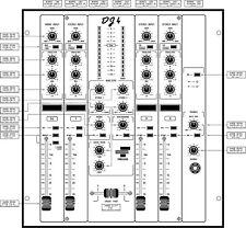 Table de mixage Freevox DJ4 : Schéma électronique